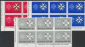 SG 1357-9 Centenary of St John Ambulance in New Zealand set of 3 plate blocks of 6 (NF1/201)